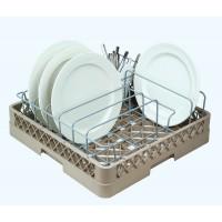 Casier lave-vaisselle 8 compartiments avec support assiettes