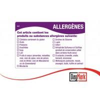 Etiquette adhésives présence multi-allergènes