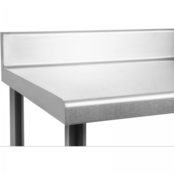 Table de travail inox 1800 x 600 avec dosseret et 1 tag re for Table evier inox professionnel