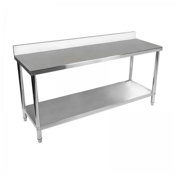 table de travail inox 1800 x 600 avec dosseret et 1 tag re. Black Bedroom Furniture Sets. Home Design Ideas