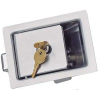 Paddle latch inox avec clé 124 x 98 mm