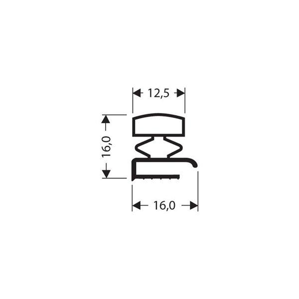 Profil Pvc Plat Sans Bande Magnétique Blanc