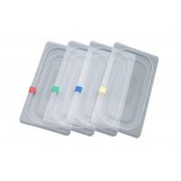 Couvercle GN1/6 polypro hermétique avec 4 clips pour bacs alimentaires