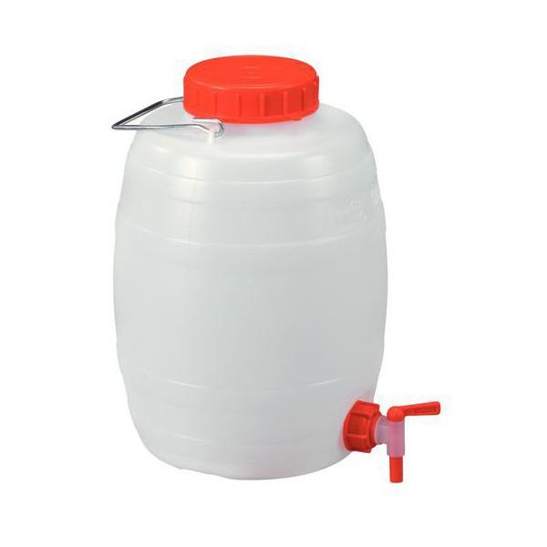 Bidon 20 litres pour liquides alimentaires - Jerrican alimentaire 20l avec robinet ...