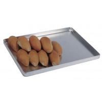 Plateau de service en aluminium 400x250x25 mm pour boulangerie et pâtisserie