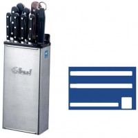 Support à couteaux inox avec étui de couleur