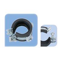 """Collier métal/caoutchouc 21 - 23 mm fixation M8 - Lnt 1/2"""""""