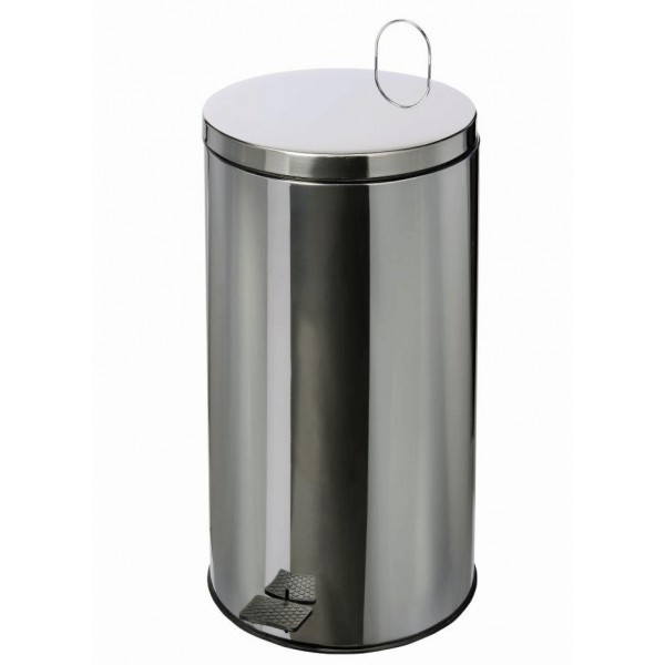 poubelle inox 430 brillant de 40 litres. Black Bedroom Furniture Sets. Home Design Ideas