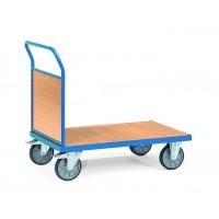Chariot manuel 1 ridelle grillagée plateau mélaminé