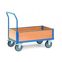Charge 500 ou 600 kg, avec plateau et ridelles en mélaminé
