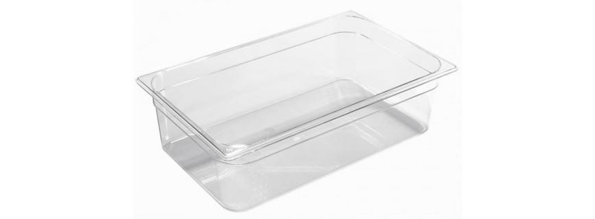 Bacs gastro transparents pour stockage alimentaire