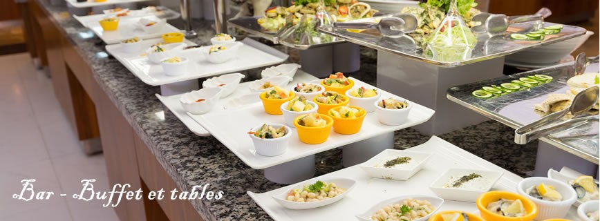 Bar - Buffet - Tables