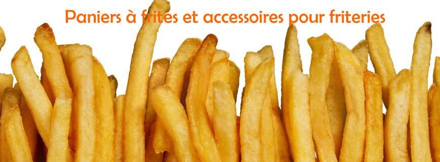 Paniers pour friteuse, écumoires et pelles à frites