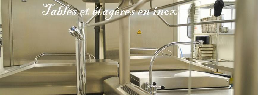 Tables et étagères inox