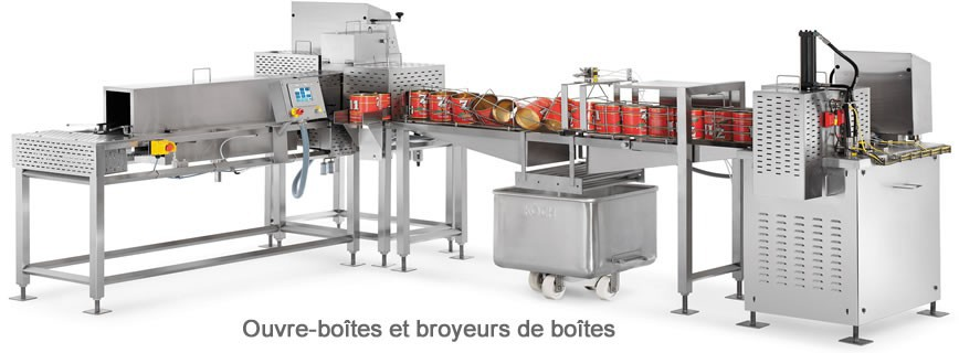 Ouvre-boîtes - Broyeurs