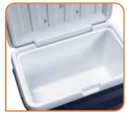 Couvercle et fond du container isotherme