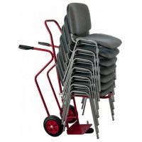 Diable porte chaises empilables 250 kg roues pleines