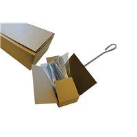 Brochettes Inox Plates 3X1.5 - L 200 Mm Carton De 400 Pcs - Linum - Tete Crochet