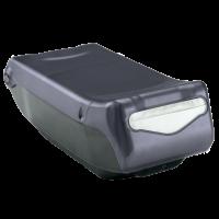 Distributeur de serviettes de table noir transparent pli mini