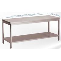 Tables démontables inox bords droits pieds carrés