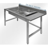 Table de déboitage adossées inox 304