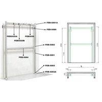 Embout PVC pr profil Alu 62X62 mm