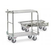Chariots à dossier rabattable alu 200 kg avec une étagère
