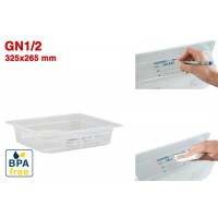 Bacs GN1/2 pour stockage alimentaire 325 x 265 mm