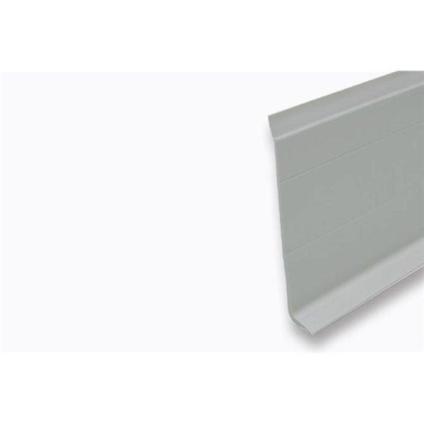 Plinthe carr/ée en bois massif laqu/é blanc RAL 9010
