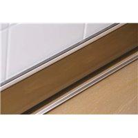 Plinthe polyester béton H10cm inox - L1m