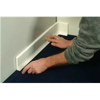 Plinthe polyester béton RAL9010 - L1m