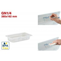 Bacs GN1/4 pour stockage alimentaire 265 x 162 mm