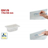 Bacs GN1/9 pour stockage alimentaire 176 x 108 mm