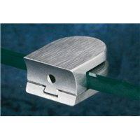 Support de verre AISI316 - 6 mm - tube Ø. 30 mm