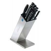 Porte-couteaux inox position haute avec étui noir