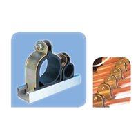 Collier métal/caoutchouc 21 - 23 mm fix. sur rail de montage - 1 pce 1 emb.