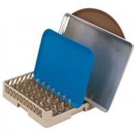 Casier lave-vaisselle à côtés ouvert avec doigts pour plats