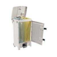 Poubelle mobile à ouverture centrale pour hôpitaux et laboratoires