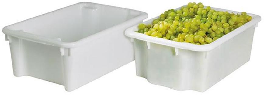 Bac gerbable et emboîtable alimentaire 600 x 400 mm