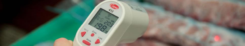 Thermomètre infrarouge à visée laser alimentaire